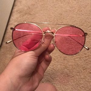 hot pink and gold sunglasses